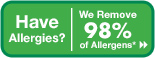 We remove 98% of allergens